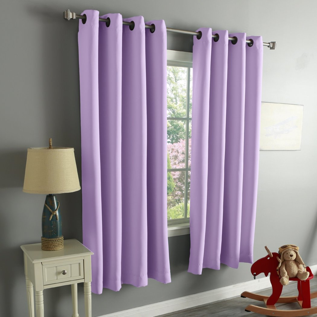 Girls Blackout Curtain Panel Window Drapes Kids Themed Insulated Thermal Grommet Playful Luxurious Polyester