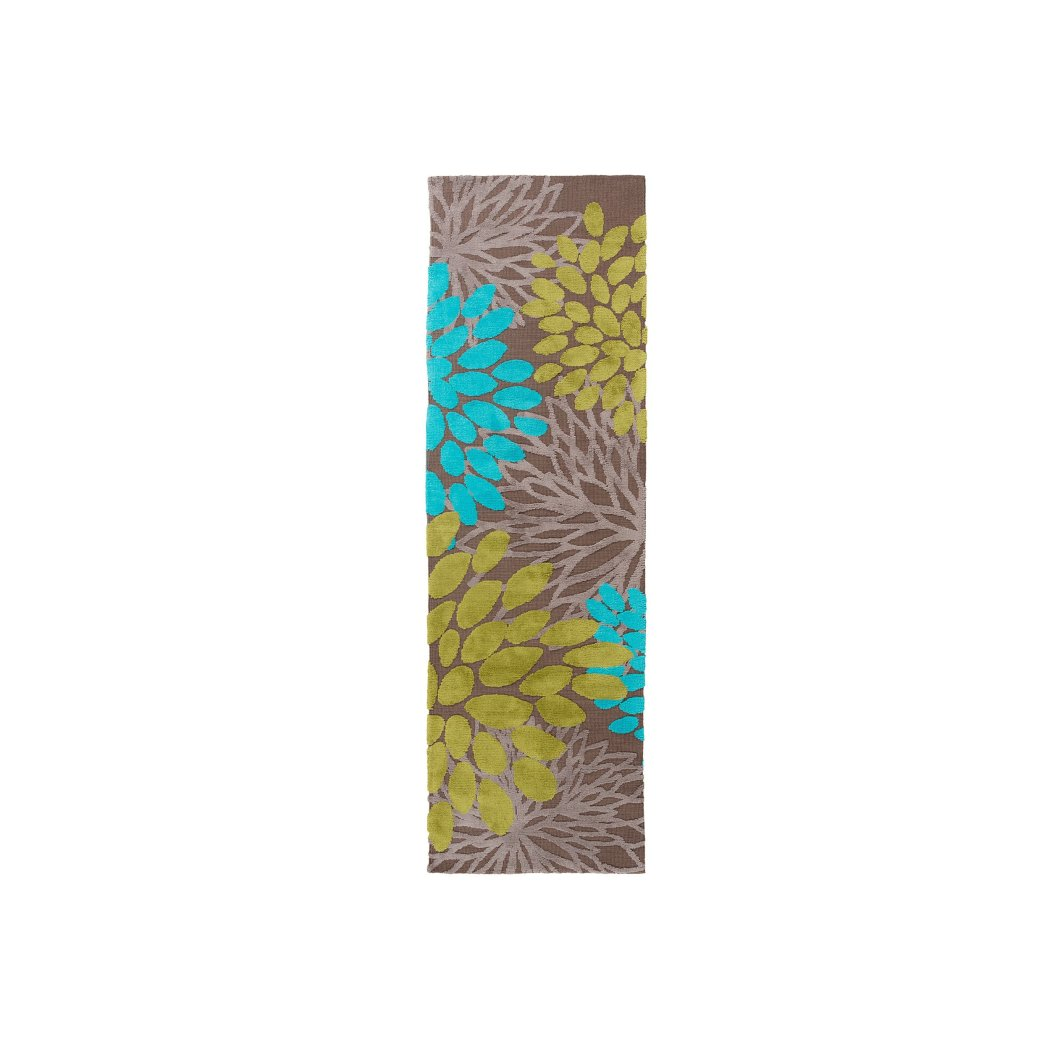 Kids Floral Theme Runner Rug Pretty Flowers Theme Transitional
