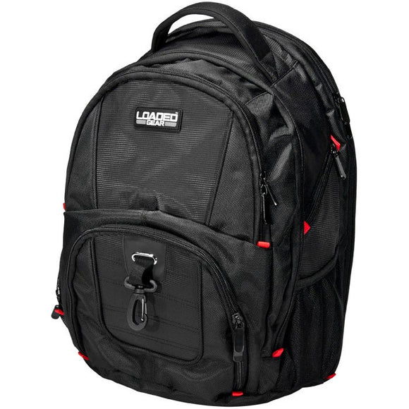 Loaded Gear Utility Backpack - 8' x 11' Black Solid Nylon Laptop Compartment Adjustable Strap - Diamond Home USA