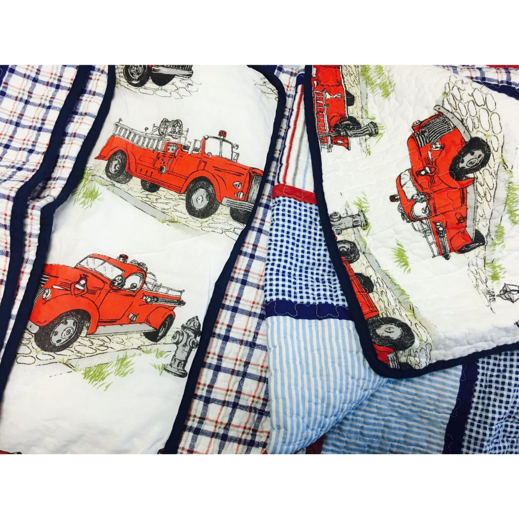 Plaid Kids Quilt Set Cabin Lodge Stripe Theme Bedding Checkered Squares Check Ljack Rugby Stripes Pattern Tartan Madras