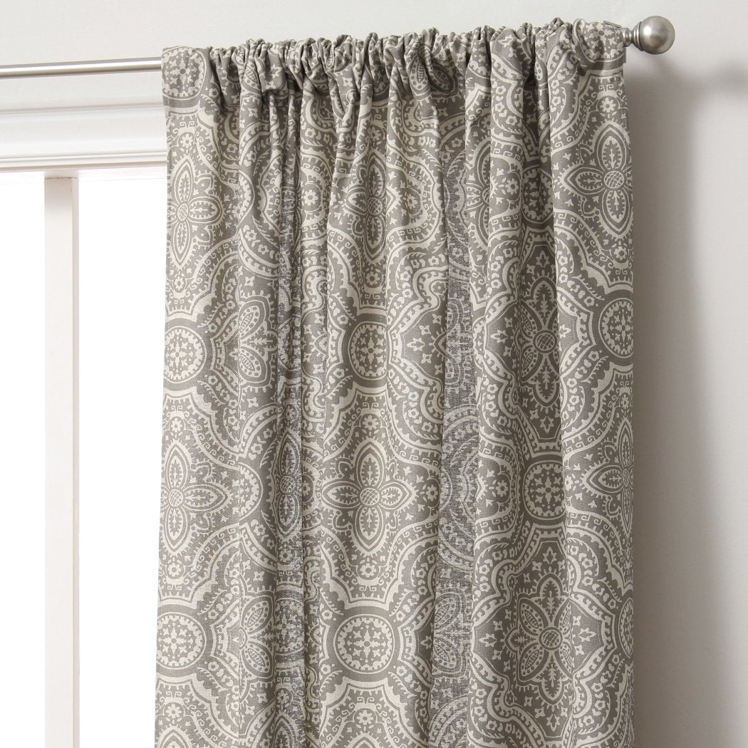 Moroccan Window Curtain Floral Drape Bohemian Woven Geometric Filtg Contemporary Window Drapery Classic
