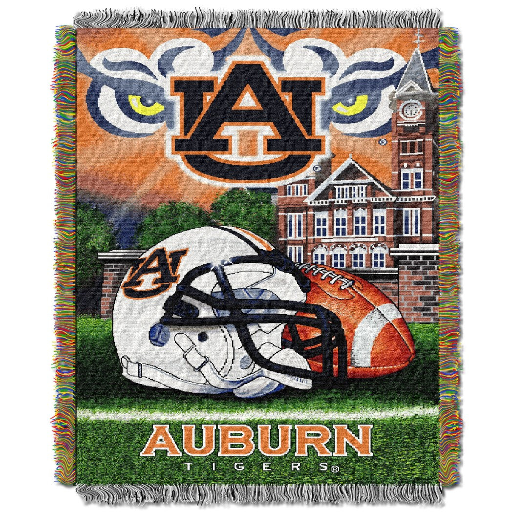 NCAA Throw Blanket College Theme Bedding Sports Patterned Collegiate Football Team Logo Fan Merchandise Athletic Team