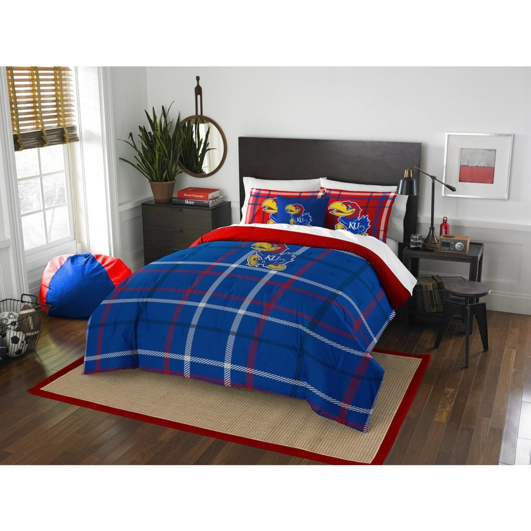 NCAA Missouri Columbia Full Comforter Set Blue Red Sports Patterned Bedding Team Logo Columbia Merchandise Team Spirit College Football Themed - Diamond Home USA