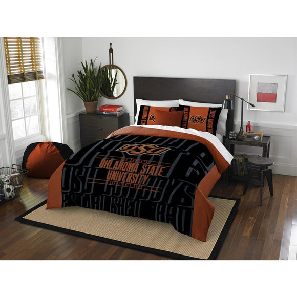 NCAA Oklahoma State University Cowboys Comforter Full/Queen Set Sports Patterned Bedding Team Logo Fan Merchandise Team Spirit College Football Themed - Diamond Home USA