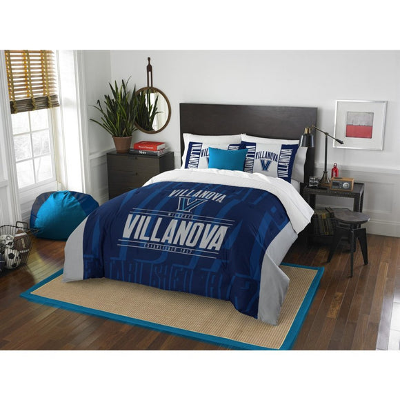 NCAA Villanova University Wildcats Comforter Full Queen Set Sports Patterned Bedding Team Logo Fan Merchandise Team Spirit College Basket Ball Themed - Diamond Home USA