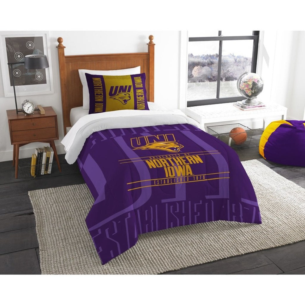 Ncaa Panthers Comforter Twin Set Purple Gold Sports Patterned Bedding Diamond Home