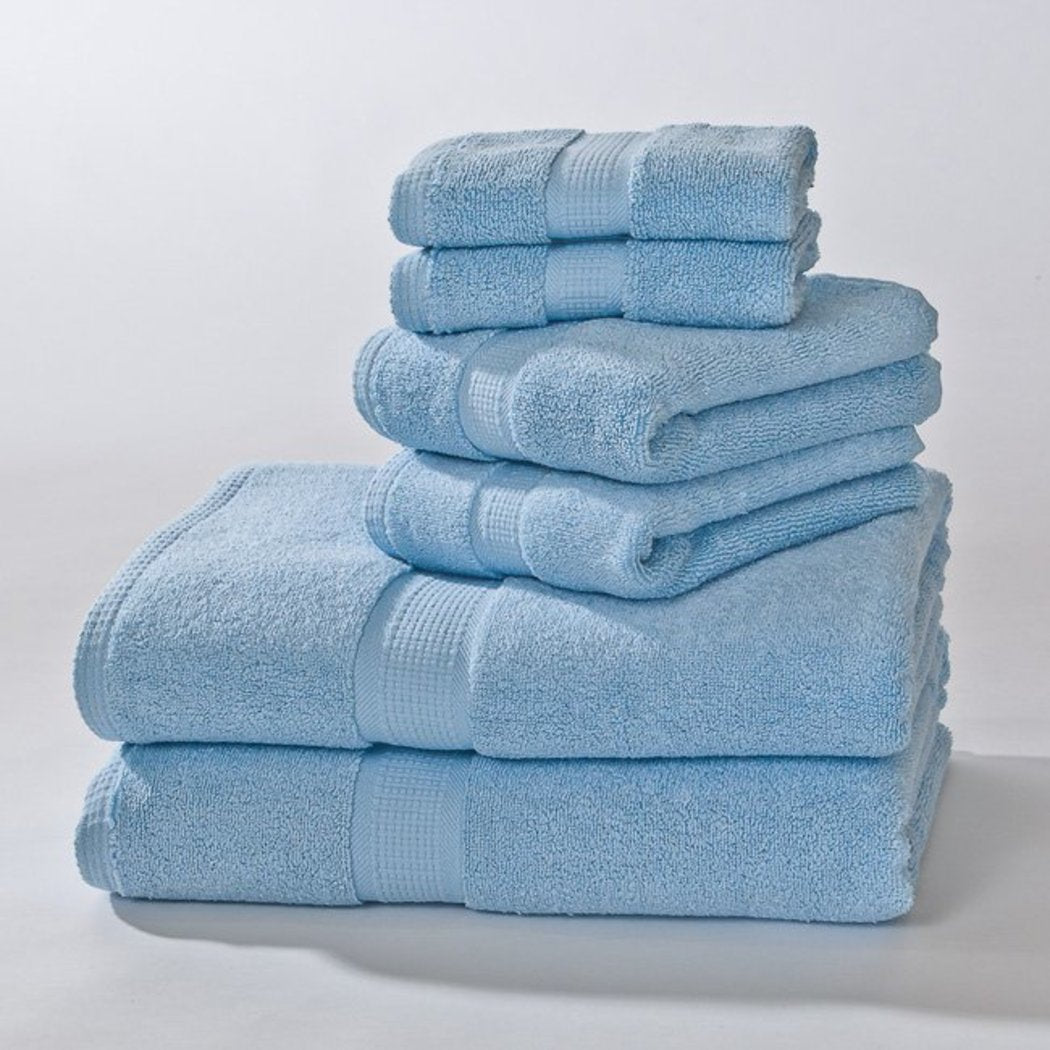 Si Supima Cotton Towels Set Zero Twist Construction Hand Towels Soft Absorbent WashCloth Modern Luxurious Look Bathroom Fancy
