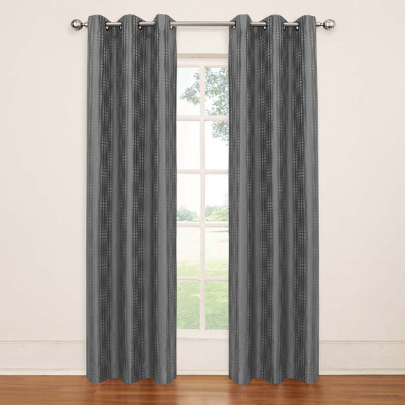 Girls Abstract Pattern Curtain Single Panel Window Drapes Kids Themed Grommet Ring Top Blackout Contemporary Playful