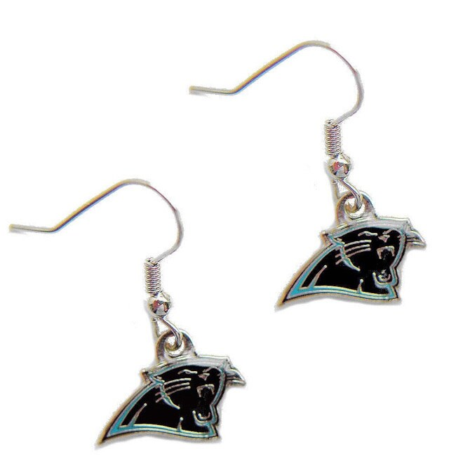Carolina Panthers Dangle Logo Earrings - Diamond Home USA