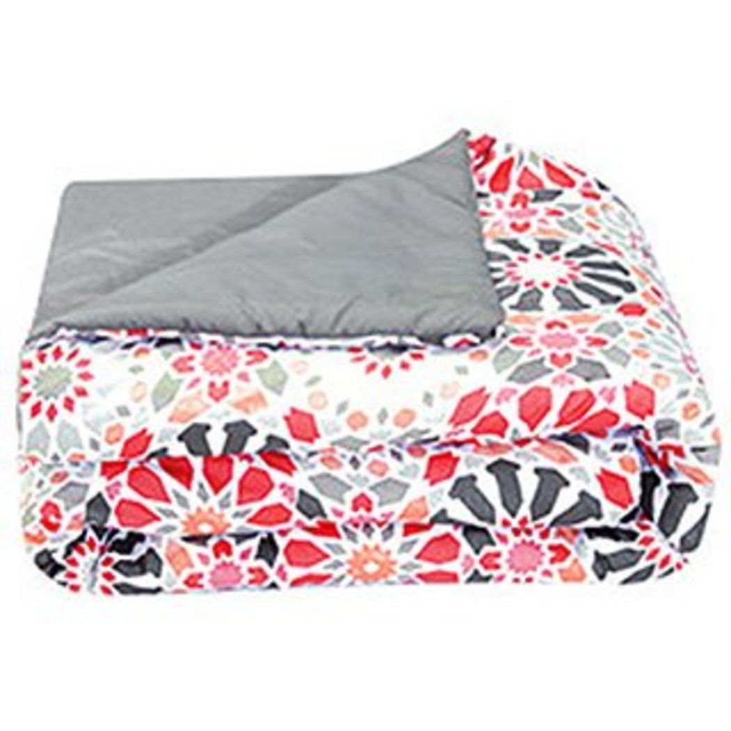 Girls Geometric Themed Comforter Set Floral Medallion Bedding Pretty Lollipop Flower Chic Stylish Medallions Red