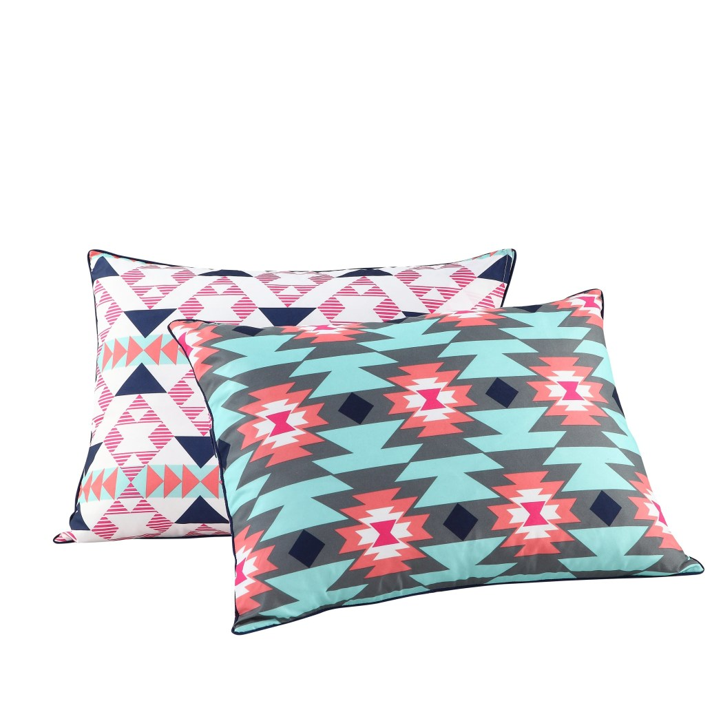 Girls Southwest Comforter Set South West Aztec Tribal Bedding Ikat Native Western American Tribe Themed Pattern Light