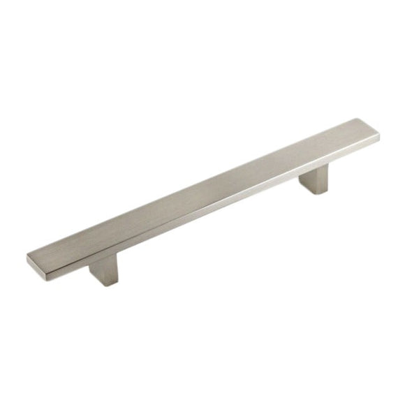 Contemporary 10-inch Rectangular Design Stainless Steel Cabinet Bar Pull Handles (Pack Of 10) Grey Aluminum Nickel Finish - Diamond Home USA