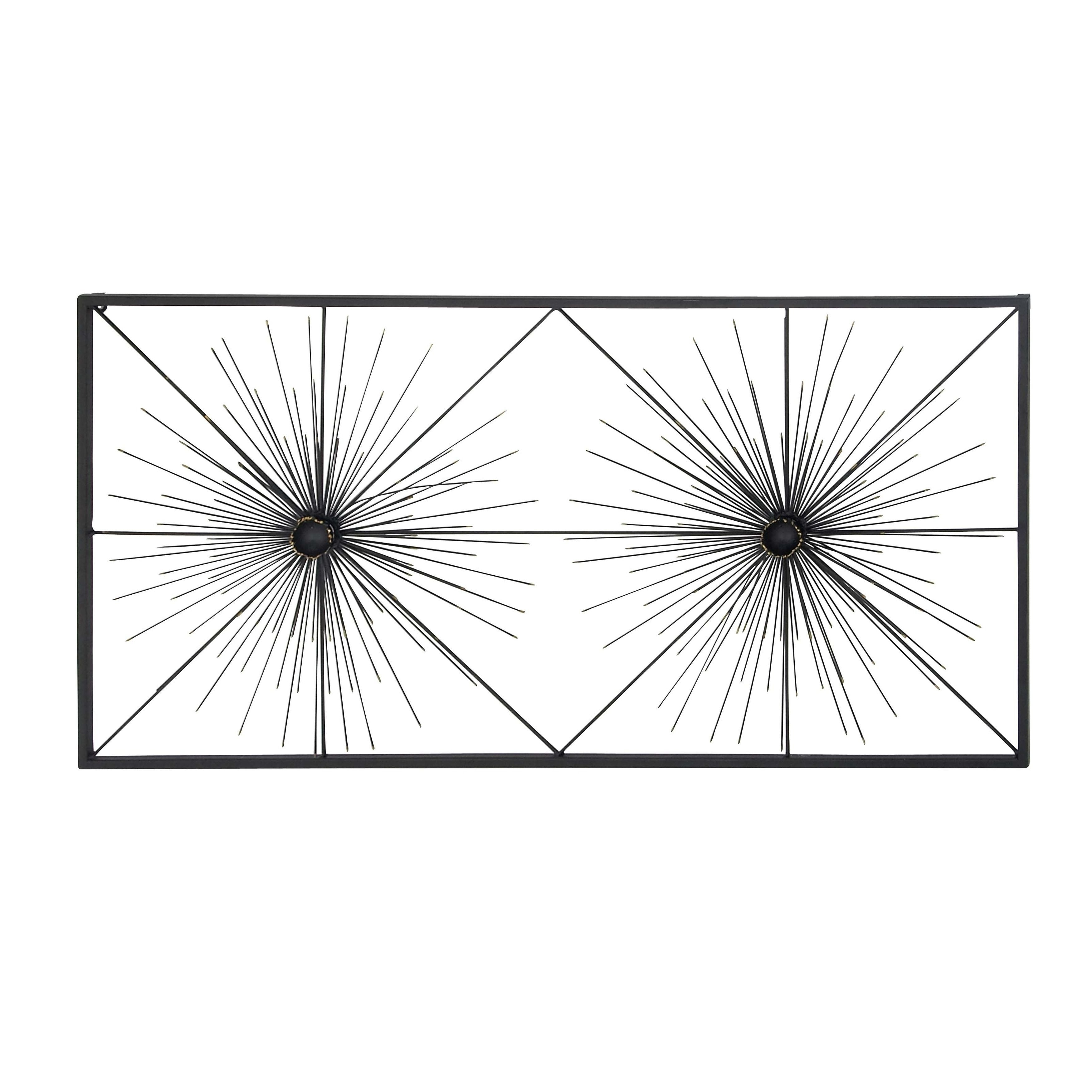Contemporary Iron Black Bursting Wall Decor Modern - Diamond Home USA