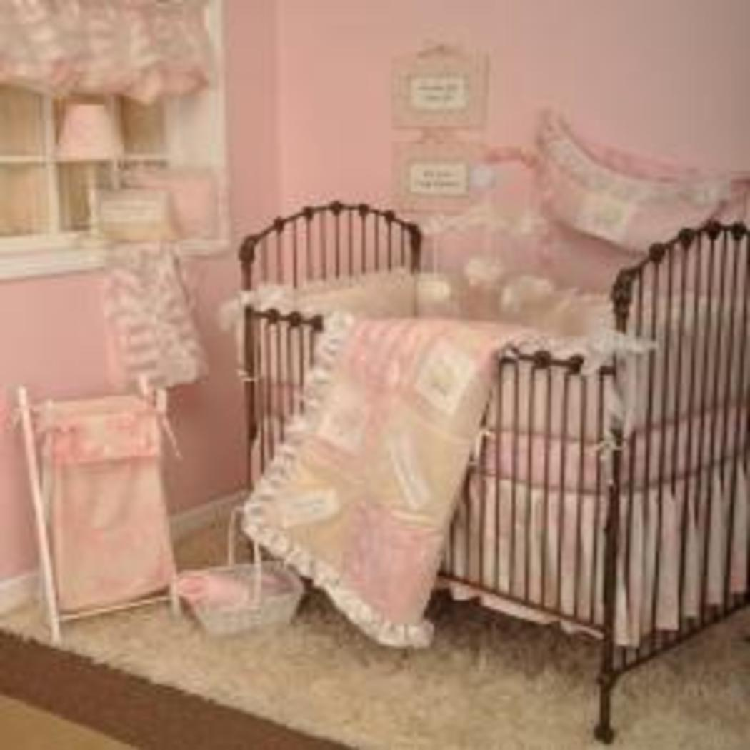 Cotton Tale Heaven Sent Girls 4 Piece Crib Bedding Set - Diamond Home USA