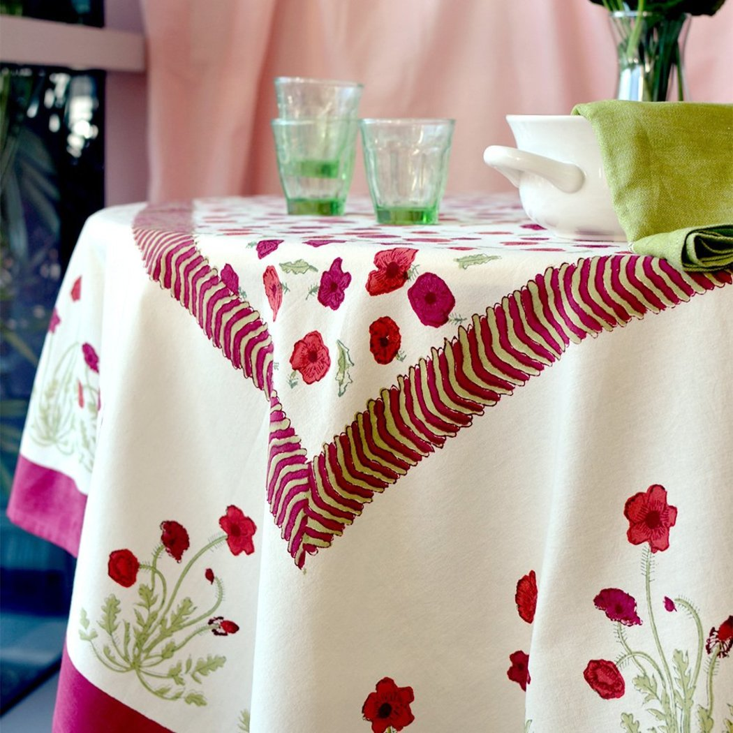 inches Floral Patterned Tablecloth Flower Leaves Crocus Design Square Medium Dining Table Cover Classic