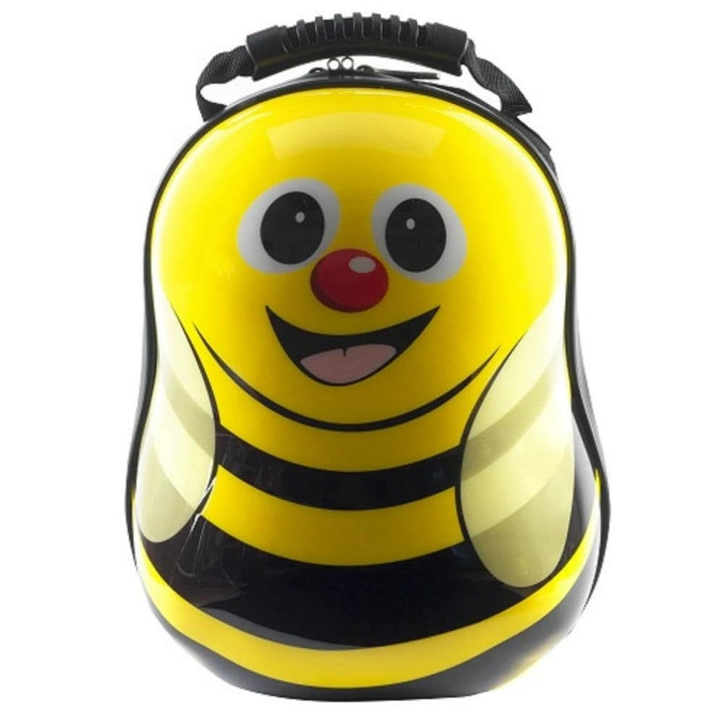 Cute Kids Bumble Bee Backpack Hard Top Suitcase Bag Bee Themed Back Pack Yellow - Diamond Home USA