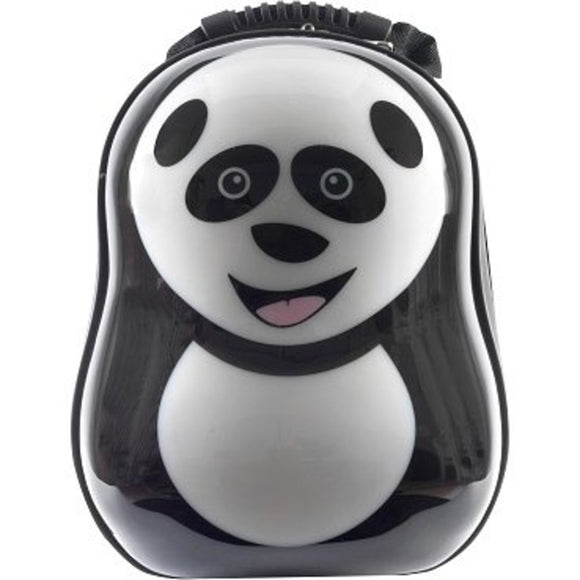 Black Cheri Panda Lightweight Hardside Kids Backpack Animal Pattern ABS Nylon - Diamond Home USA