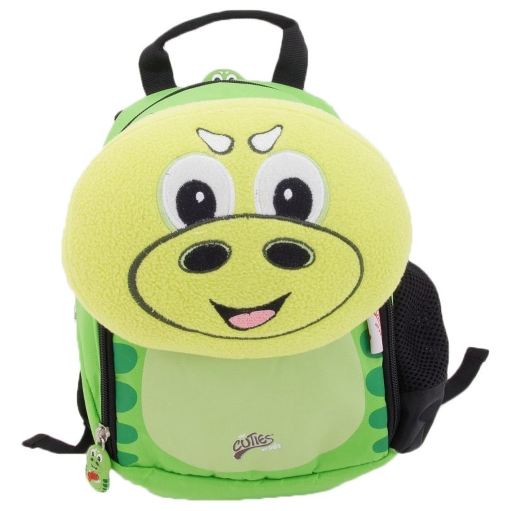 Green P Rex Dinosaur Kids Soft Backpack 11 5 Inch Animal Pattern Polyester - Diamond Home USA