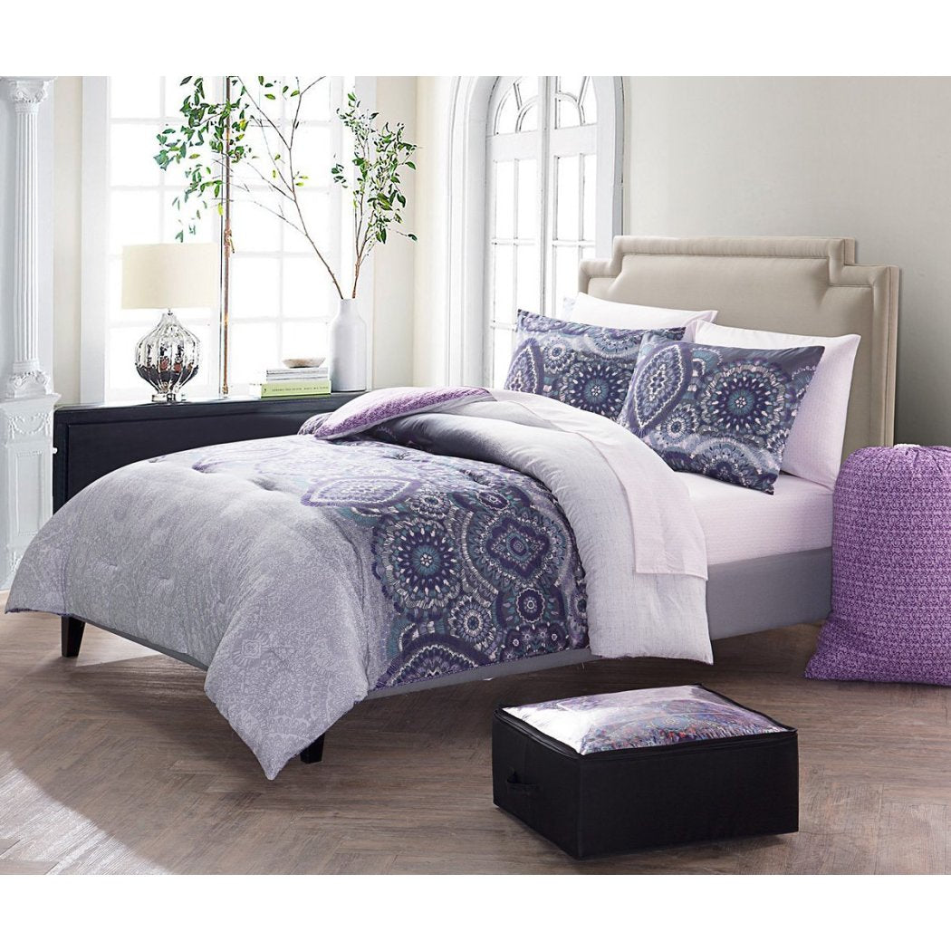 Damask Textured Theme Comforter Set Elegant High End Luxurious Rich Motif Medallion Graphic Design Bohemian Patterned Bedding