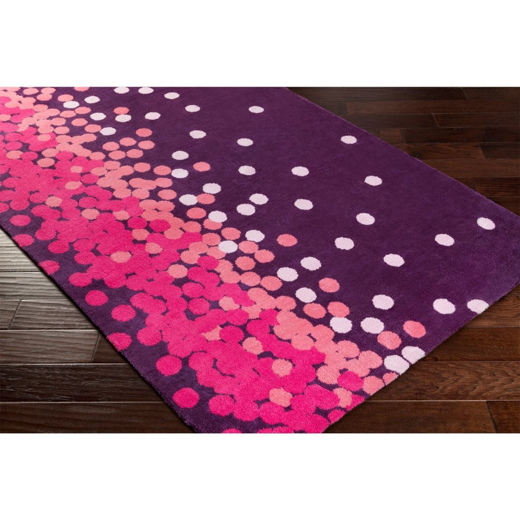 "Kids Dots Runner Rug (2'6"" x 8') Carpet Flooring Fun Design"