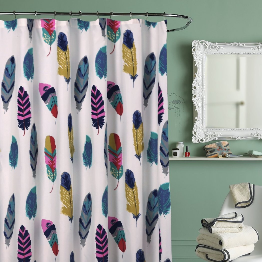DID 1 Piece Ivory Yellow Teal Blue Dreamcatcher Shower Curtain Colorful Feathered Bathtub Decor Dream Catcher