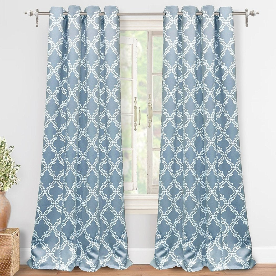 Floral Window Curtain Set Geometric Drape Blackout Room ening Window Panels Thermal Insulated Energy Efficie Window Screen