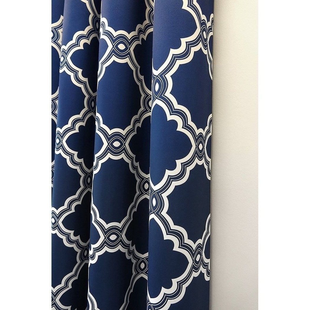 Moroccan Window Curtain Set Trellis Drapes Geometric Room ening Panels Thermal Insulated Noise Reducing Window