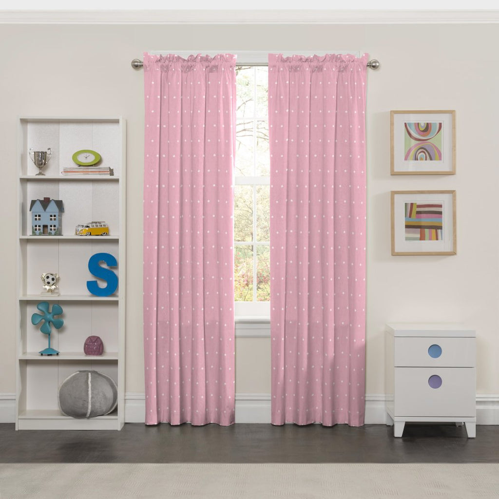 Mini Tiara Window Curtain Polka Dots Drape Crown Abstract Blackout Noise Reducing Thermal Insulated Energy Efficie Drapery