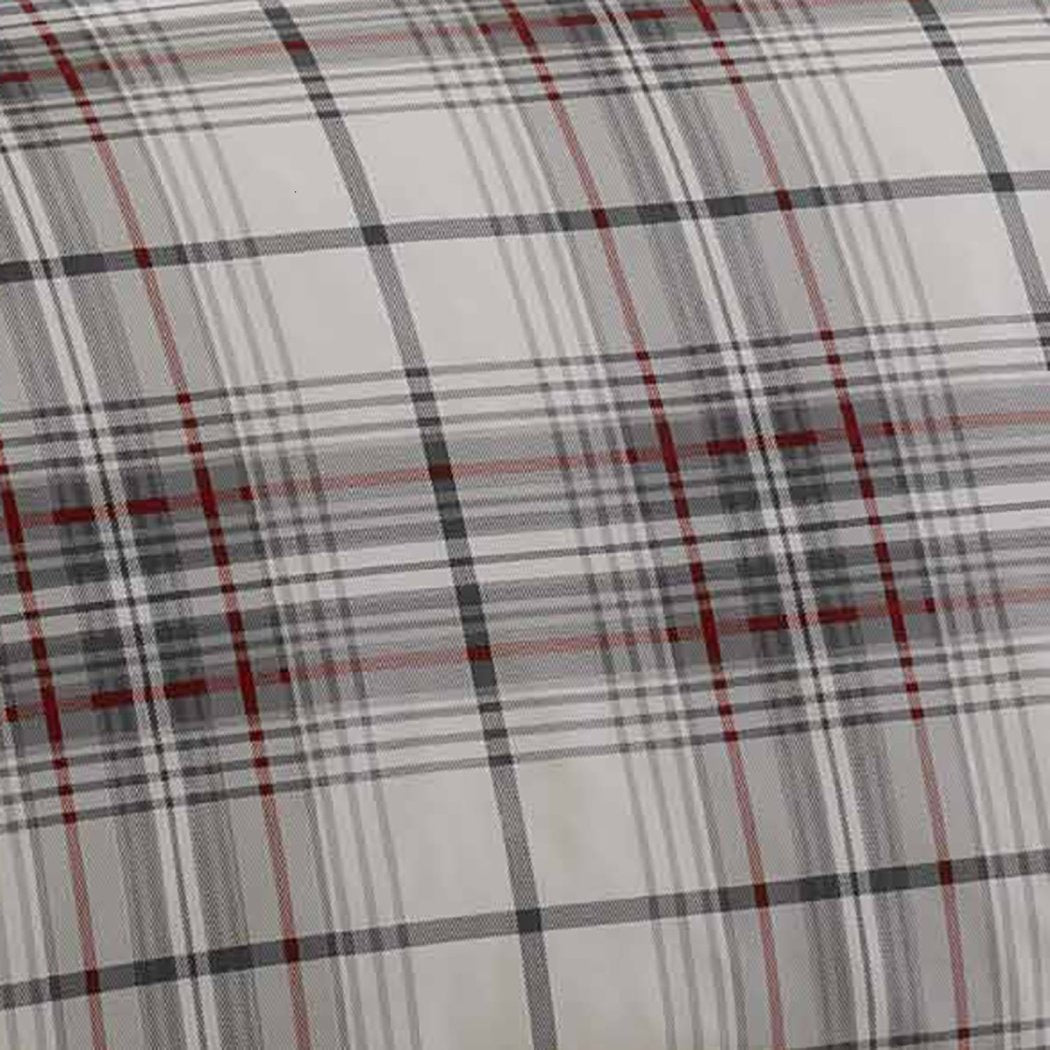 Plaid Duvet Cover Set Horizontal Vertical Stripe Checked Bedding Cabin Themed Lodge Ljack Pattern Outdoors Country