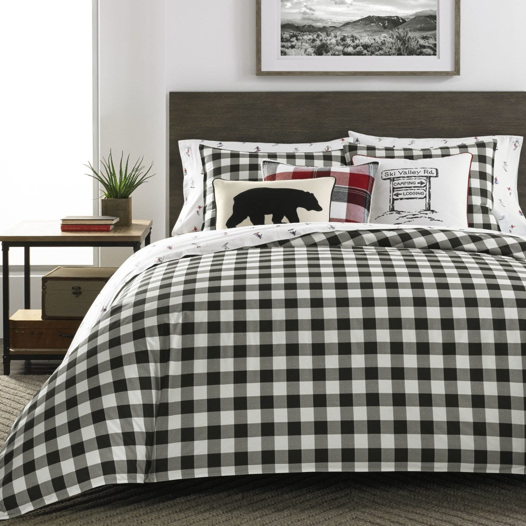 Plaid Comforter Set Cabin Themed Bedding Tartan Checkered Pattern Checked Squares Lodge Madras Buffalo Check Classic Cottage