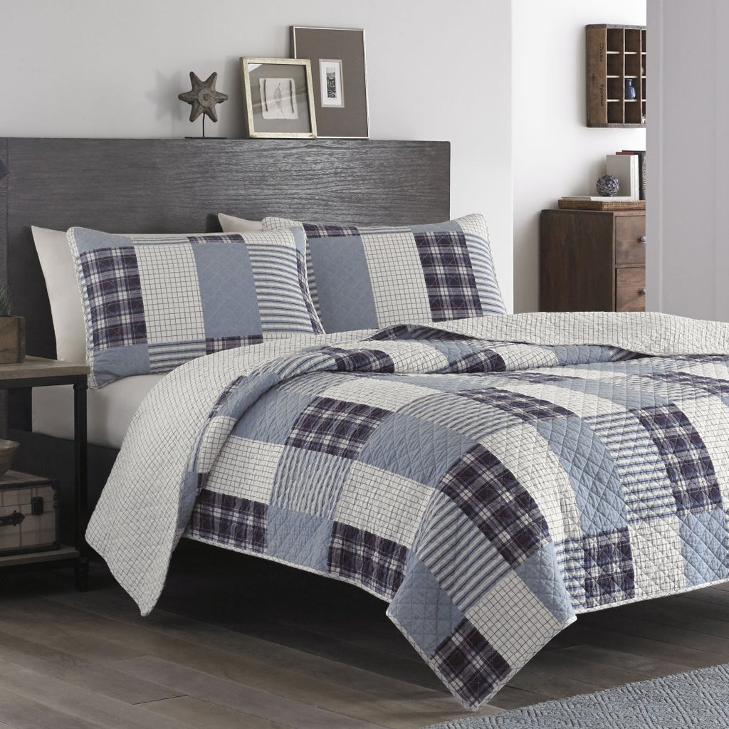Plaid Quilt Set Lodge Cabin Checkered Tartan Madras Theme Bedding Ljack Stripe Squares Patchwork Novelty Rectangle