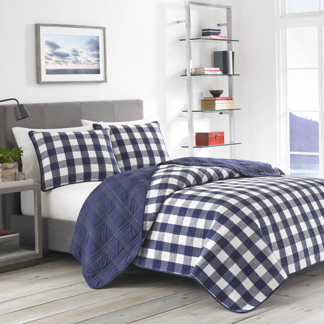 alo Check Pattern Comforter Set Elegance Luxurious Classic Plaid Texture Design Bedding Casual Bold Soft Cozy Cotton