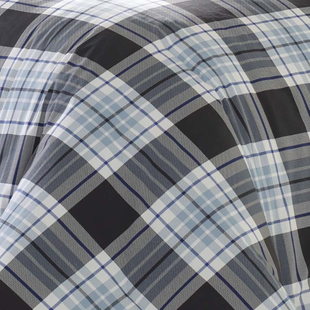 Madras Plaid Striped Duvet Cover Set Patchwork Checkered Stripe Bedding Tartan Check Patch Work Lodge Cabin Stripes Themed
