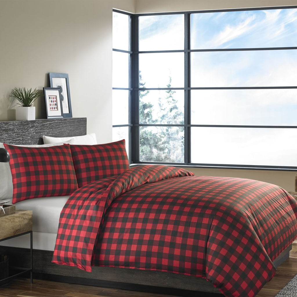 Vibrant Plaid Duvet Cover Set Cabin Themed Lodge Country Checkered Bedding Squared Tartan Madras ic Ljack Pattern Cottage
