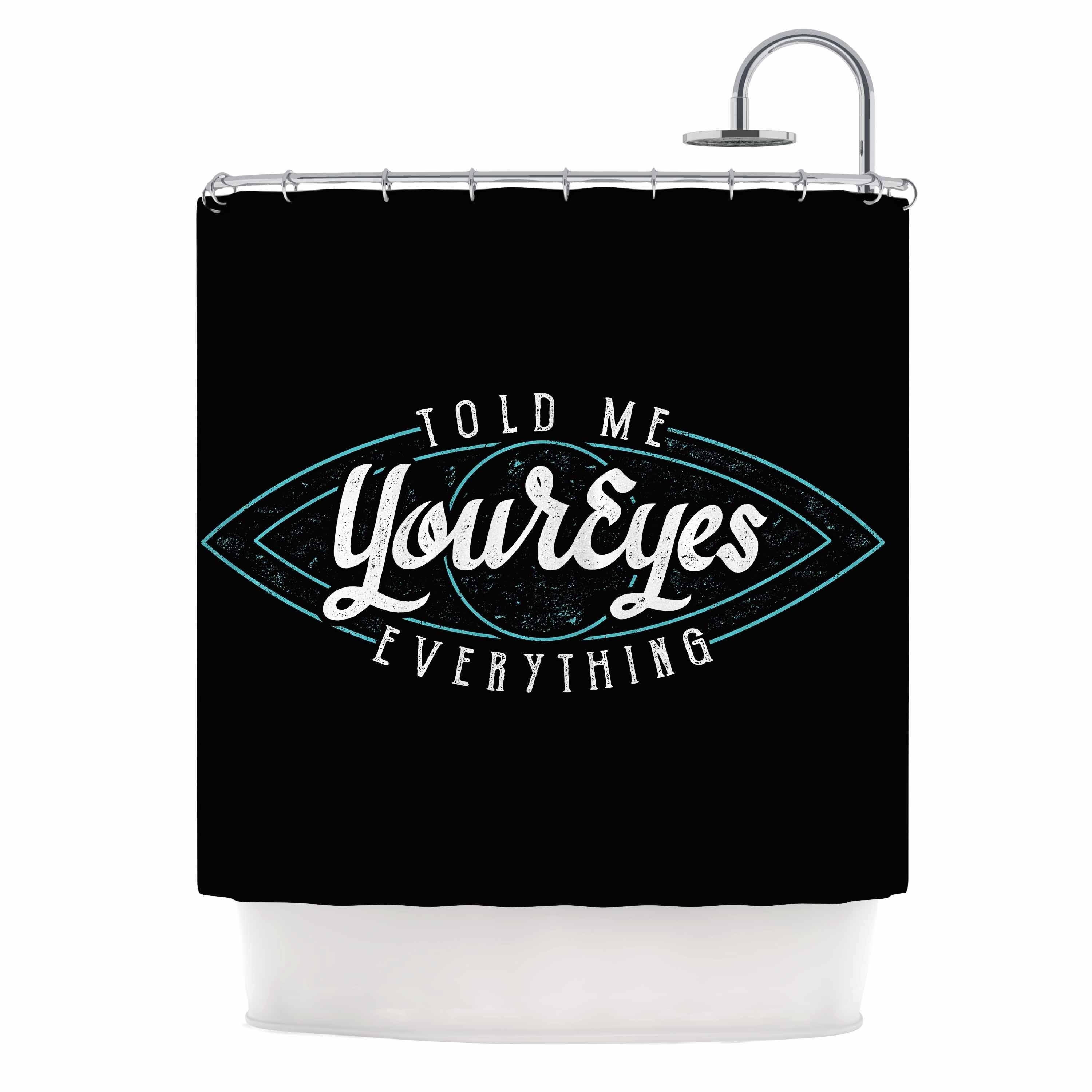 "Eikwox "" Behind Blue Eyes"" Shower Curtain Black Polyester - Diamond Home USA"