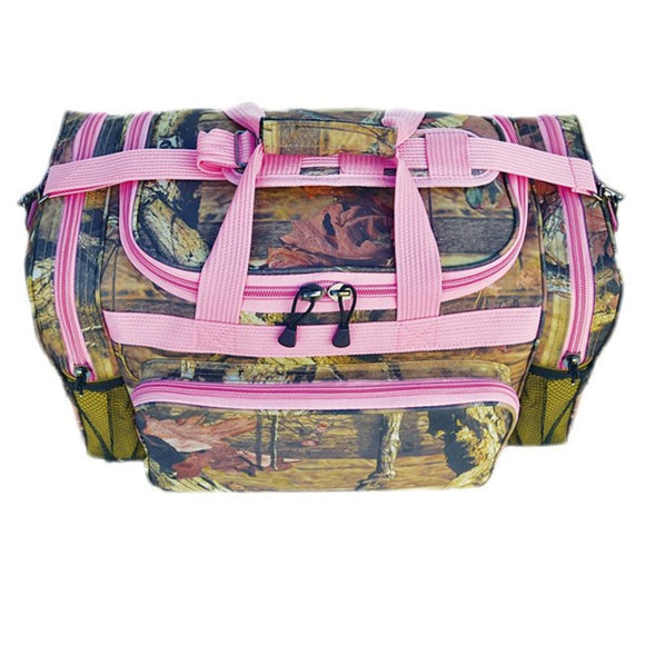 Girls Pink Outdoor Nature Forest Themed Carry Duffel Bag Camo Hunter Luggage - Diamond Home USA