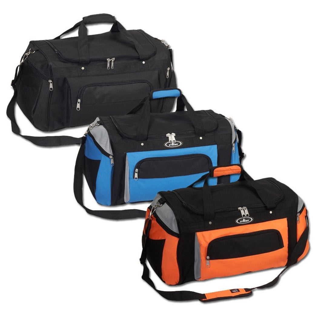 Crossfit Gym Bag Denier Polyester Deluxe Sports Duffel Compartment Exterior Interior Zipper Pocket Shoulder Strap BasicSoftside