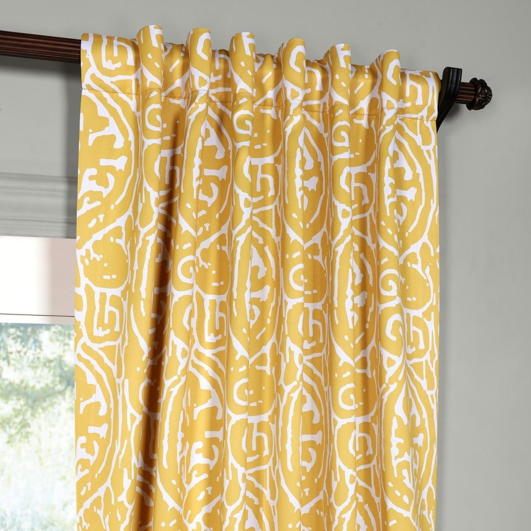 Damask Window Curtain Set Blackout Drape Bohemian Abstract Chic Thermal Insulated Contemporary Novelty Window Screen