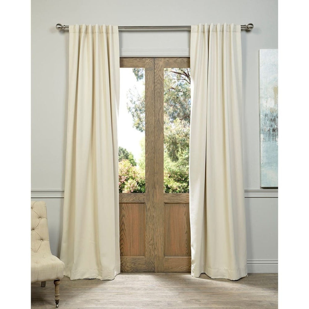 Girls Eggnog Blackout Curtain Panel Pair Off Window Drapes Kids Themed Thermal Energy Efficient Rod Pocket Playful
