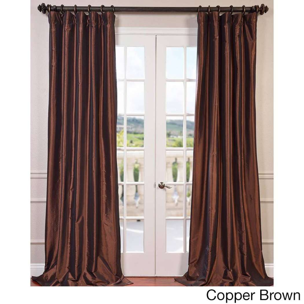 Robin Egg Faux Silk Taffeta Window Curtain Single Panel Fabrics Window Treatment Lined Blackout Energy Efficient