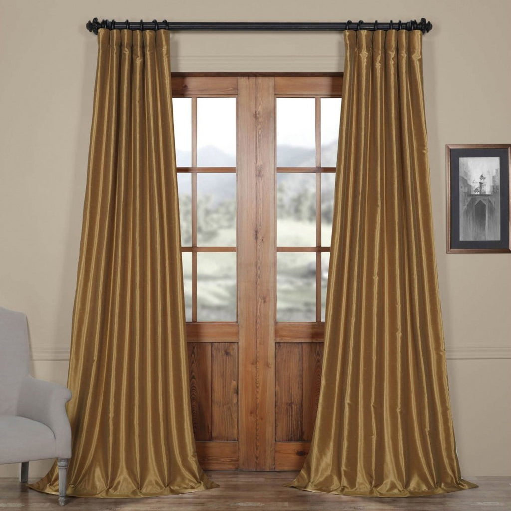 Girls Vintage Textured Dupioni Silk Curtain Single Panel Allover Pattern Window Drapes Kids Themed Blackout Rod Pocket