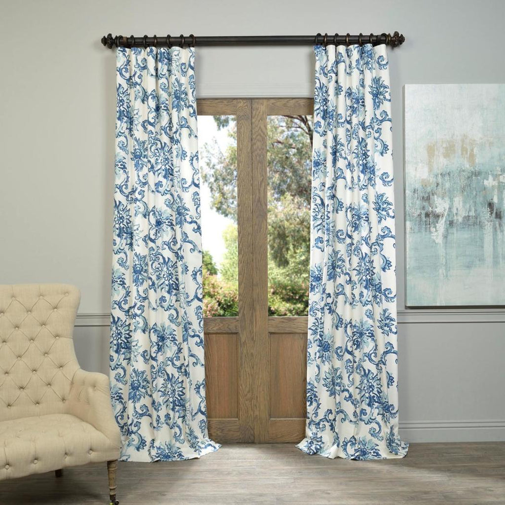 Indonesian Botanical Window Curtain Floral Bohemian Vine Bloom Pattern Single Panel Room ening Energy Efficie Window