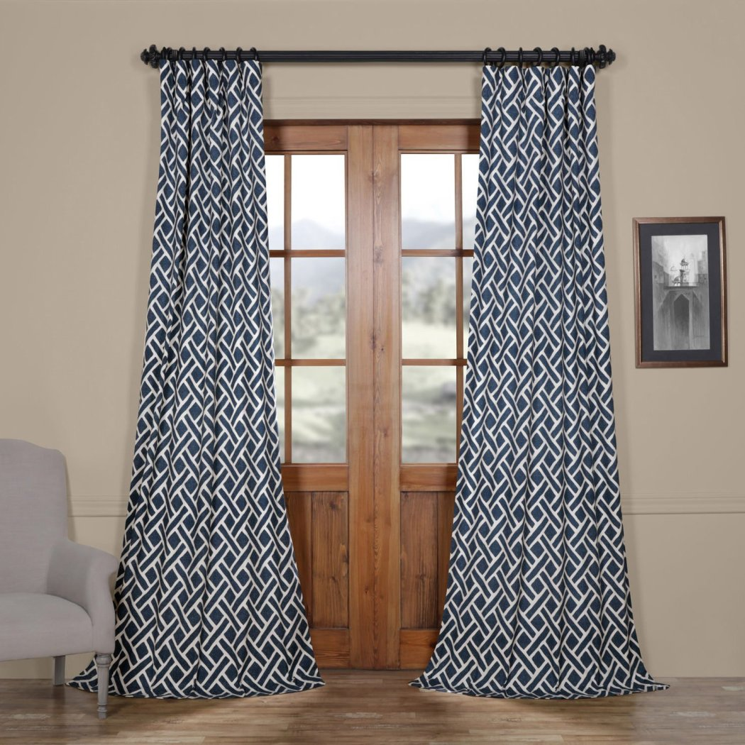 Girls Printed Curtain Single Panel Window Drapes Kids Themed Geometric Pattern Energy Efficient Lined Rod Pocket