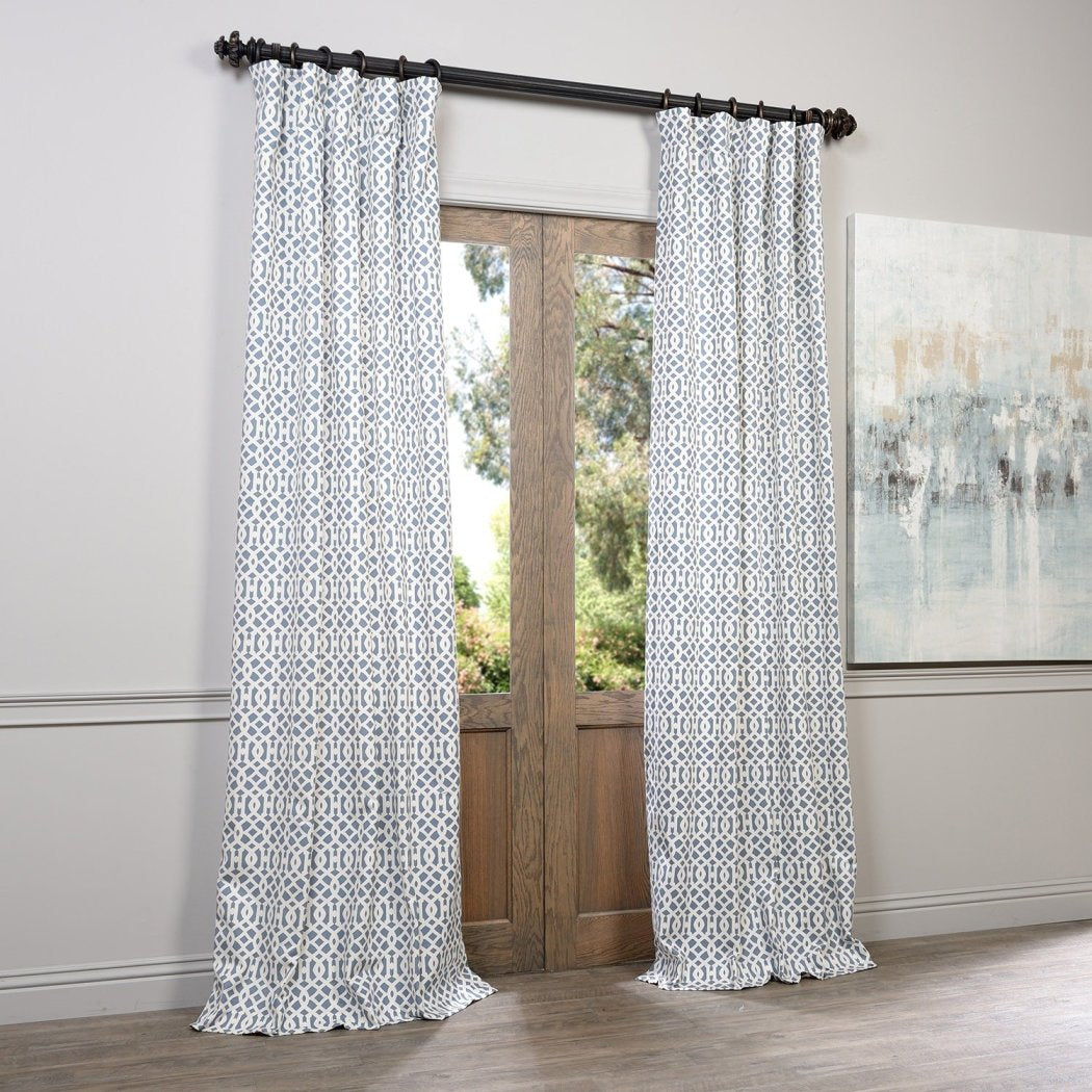 Window Curtain Trellis Moroccan Hexagon Ogee Geometric Single Panel Room ening Energy Efficie Window