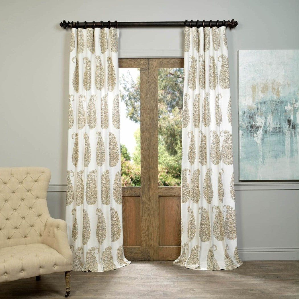 Paisley Park Window Curtain Bohemian Damask Baroque Rococo Boteh Pine cone Single Panel Room ening Energy Efficie Window