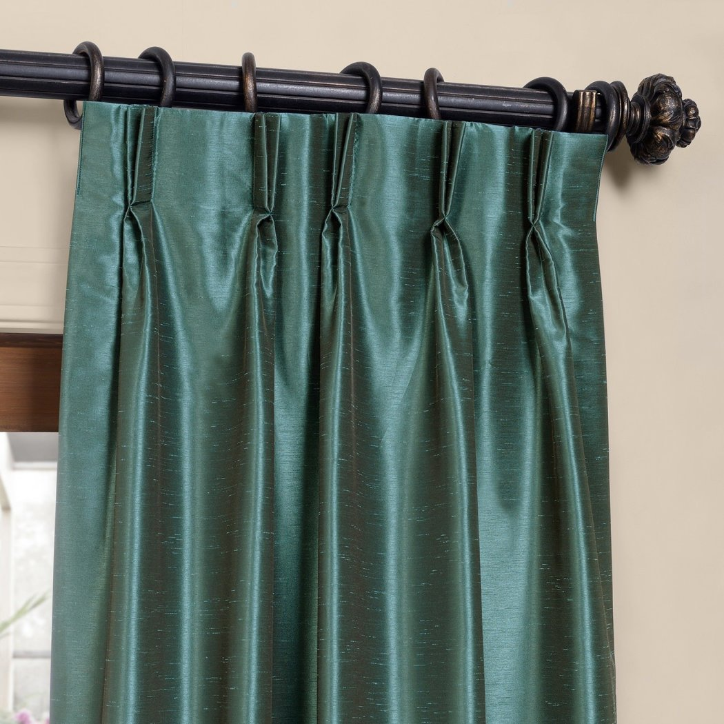 Pinch Pleated Curtain Single Panel Puckered Pintucks Window Pinch Pleated Drapes Tufted Texture Pattern