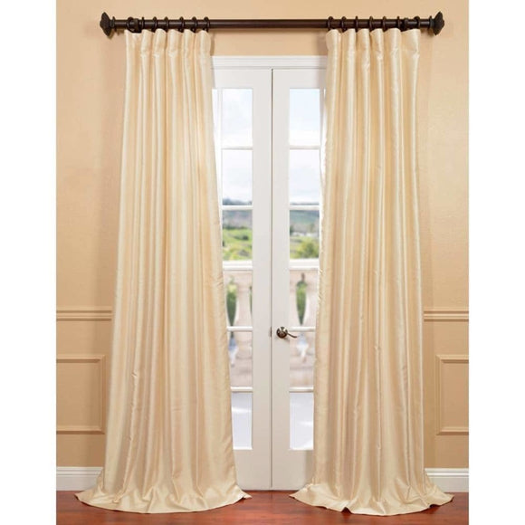 Girls Yarn Dyed Dupioni Curtain Single Panel Off Window Drapes Kids Themed Insulated Thermal Rod Pocket Playful