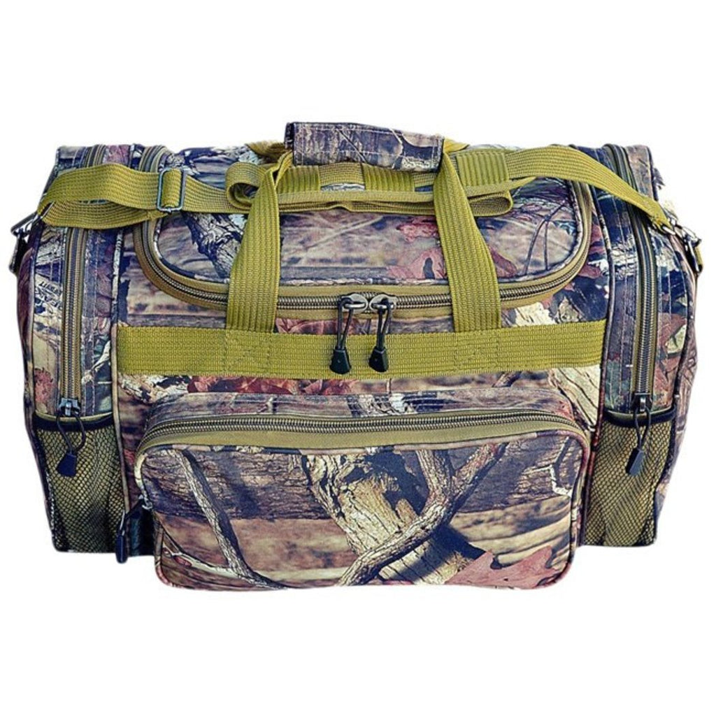 Green Mossy Oak Duffel Bag 13 Inch Camouflage Pattern Polyester - Diamond Home USA