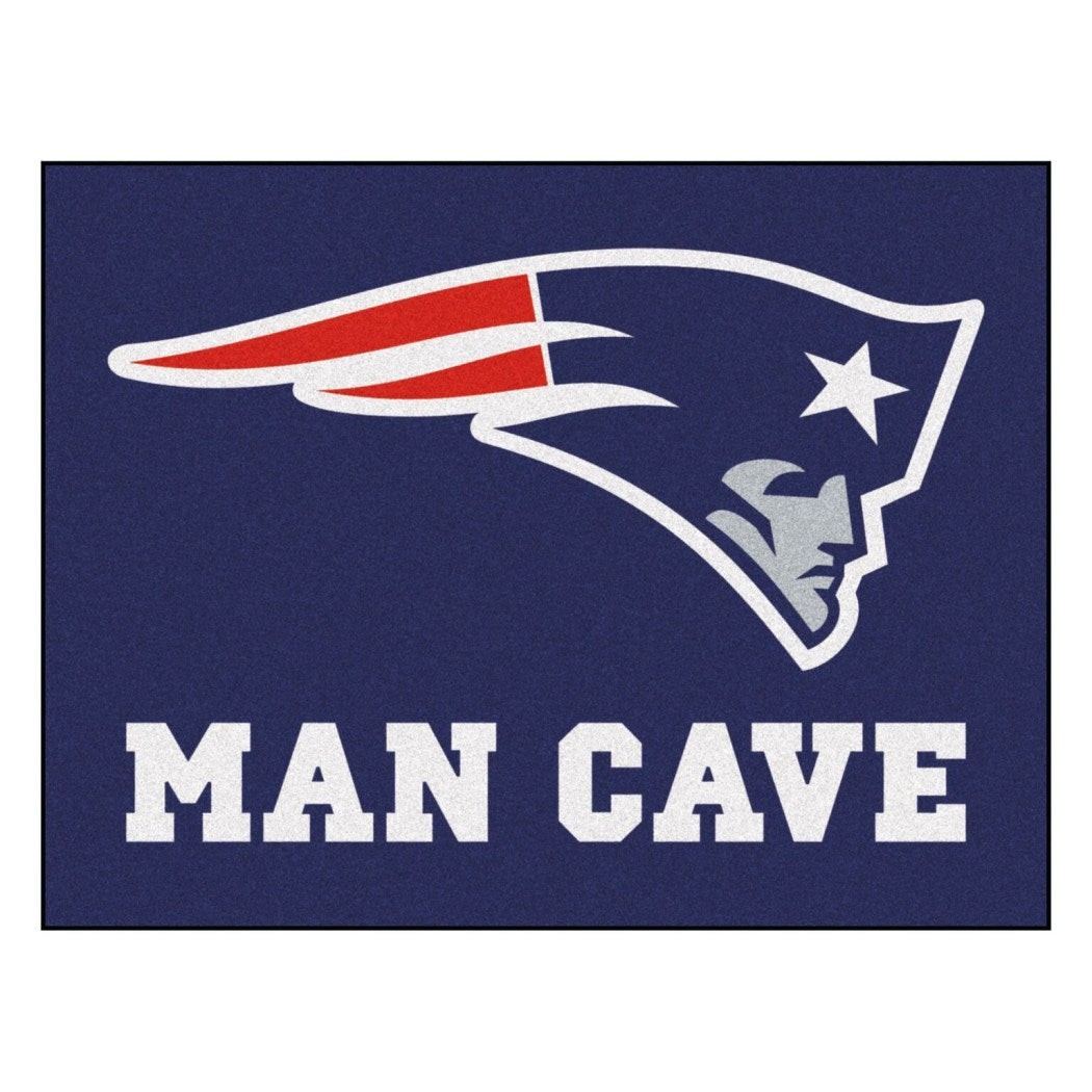 Man Cave NFL Superbowl LI Champion New England Patriots Themed Area Rug Pats Super Bowl 51 Football Team Spirit Winner Carpet NE Patriot Sports Logo - Diamond Home USA