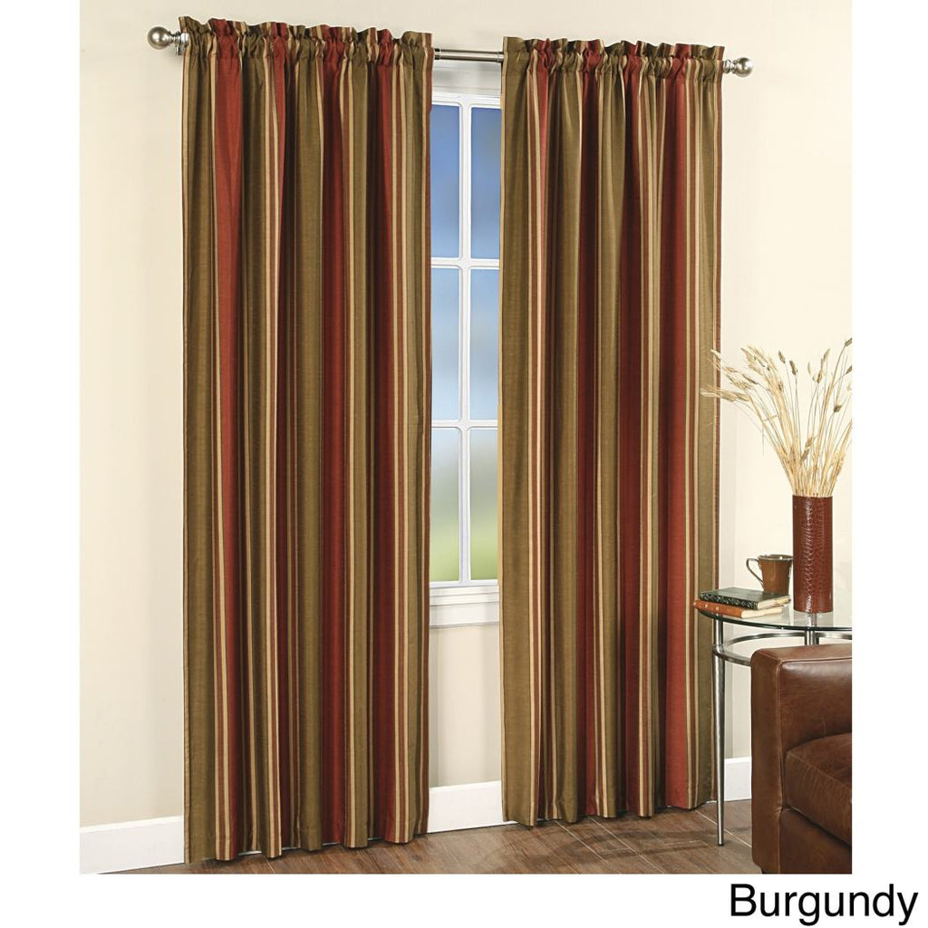 Girls Rugby Stripes Curtains Panel Pair Set Drapes Cabana Striped Pattern Window Treatments Kids Themed Block
